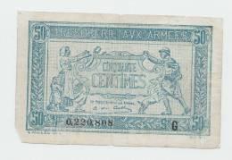 FRANCE 50 Centimes ND. 1917 VG P M1 - Treasury