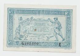 FRANCE 50 Centimes ND. 1917 AXF P M1 - Treasury