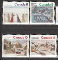 Canada 550 à 553 ** - 1952-.... Regno Di Elizabeth II