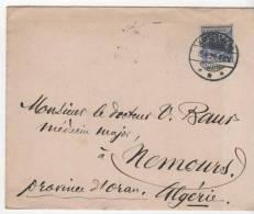 Envellope Avec Tampons Kaysersberg Alsace Et Marseille Bouche Du Rhone Pour Oran Algerie1899 - Marcofilia (sobres)