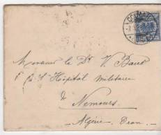 Envellope Avec Tampons Colmar Alsace Et Marseille Bouche Du Rhone Pour Oran Algerie1898 - Marcofilia (sobres)