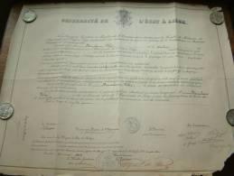 Université De L'état à Liège / Faculté De Medecine - Certificat De BONNELANCE Félix / Anno 1902 ( Details Zie Foto ) ! - Diploma & School Reports