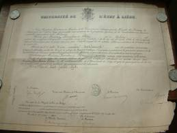 Université De L´état à Liège / Faculté De Medecine - Certificat De BONNELANCE Félix / Anno 1900 ( Details Zie Foto ) ! - Diplômes & Bulletins Scolaires