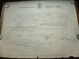 Université De L´état à Liège / Faculté De Medecine - Certificat De BONNELANCE Félix / Anno 1904 ( Details Zie Foto ) ! - Diploma & School Reports