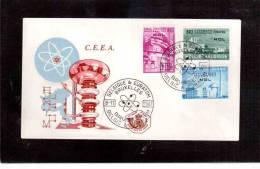 TEM8149  -   BELGIO    -    FDC  CAT.UNIFICATO  Nr. 1195/1197 - Atomenergie