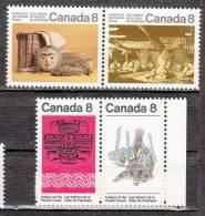 Canada 521 à 524 ** - 1952-.... Regno Di Elizabeth II