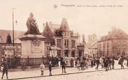 PHILIPPEVILLE - Statue De Marie Louise, Première Reine Des Belges - Superbe Carte  Très Animée - Philippeville