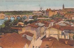 82 - Monteban  - Panorama Vers Le Vieux Pont (coloree, Timbres, Peu Vue) - Montauban