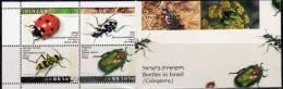 WWF Käfer 1994 Israel 1287/0 TAB Plus 4xKehrdrucke Im MH 1/94 ** 35€ Naturschutz 4-strip Se-tenant Fauna Booklet Of Asia - Markenheftchen