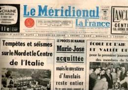 """JOURNAL"""" LE MERIDIONAL""""DU 10/06/1964 - Journaux - Quotidiens"""