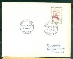 1er Jour Paris - Mozart En 1957  - Lp26425 - 1950-1959