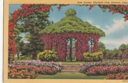 BR44257 Rose Garden Elizabeth Park Hartford    2  Scans - Hartford