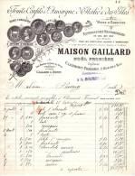 GAILLARD (Noël Prunière)  Fruits Confits D´Auvergne, D´Italie & Des Iles  CLERMONT FERRAND  1910 - 1900 – 1949