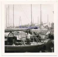 P55 - Yacht voilier de plaisance Jean Jack III - port de St Tropez - 1 photo + negatif an. 1950-60