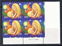 Estonia 1996 Mi 288 Christmas, Corner-four - Estonia