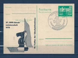 DUITSLAND, 17/02/1978 Schachmeisterschaft - TORGELOW  (GA8026) - Schaken
