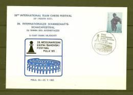 JUGOSLAVIJA, 20/05/1985 28th International Team Chess Festival - PULA   (GA7648) - Schaken