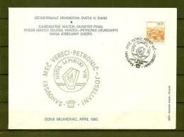 JUGOSLAVIJA , 29/03/1980 Sahovski Mec Vereci Petronic - DONJI MILANOVAC  (GA8116) - Schaken