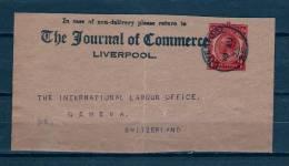 Briefstukje Van Liverpool Naar Geneva (Zwitserland) 10/08/1925 (GA6755) - 1902-1951 (Koningen)