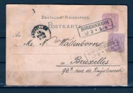 Postkaart Van Sobernheim Naar Bruxelles 12/03/1876 (GA6778) - Briefe U. Dokumente