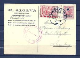 Briefkaart Van Thessaloniki Naar Esch Sur Alzette 13/01/1939 (GA6821) - Griekenland