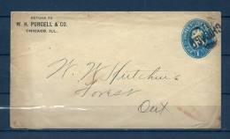 Brief Van Chicago Naar Forest (GA6835) - Postzegels