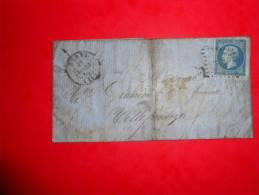 N14.lettre De Rodez. - 1853-1860 Napoléon III