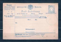 Briefkaart Post Anweisung (GA6630) - Bavière