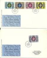 UK Windsor Berks 1977 / Silver Jubilee Queen / 2 Enveloppes - 1971-1980 Em. Décimales