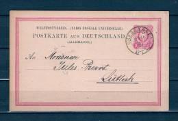 Postkaart Van Obergassel Naar Luttich 23/10/1880 (GA6591) - Cartas