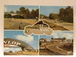 CPSM 72 Sarthe - LE MANS - Course Motocycliste - Le Mans