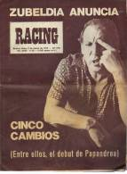 AÑO 1976   Nº 1691  REVISTA RACING  EQUIPO DE FUTBOL  ARGENTINA  OHL - [1] Fino Al 1980