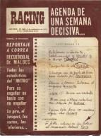 AÑO 1975   Nº 1666  REVISTA RACING  EQUIPO DE FUTBOL  ARGENTINA  OHL - Magazines & Newspapers