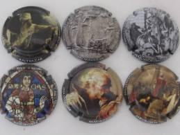 Série De 6 NEW Caps. De Champ. Génér. LES SIX FLACONS, - Collections