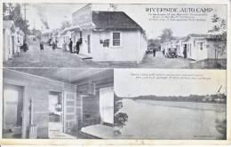 "Red  Bluff, Calif.  ROADSIDE  AMERICANA  RIVERSIDE    AUTO-CAMP 1920""s - American Roadside"