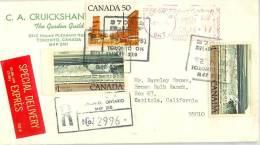 Canada To CA Airmail 1981 EXPRES - Kanada