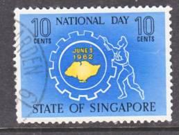 Singapore 61  (o)  NATIONAL  DAY - Singapore (1959-...)