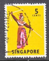 Singapore 86a  Perf  13   (o)  FOLK  DANCER - Singapore (1959-...)