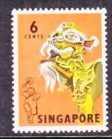 Singapore 87  **   FOLK  DANCER  DRAGON - Singapore (1959-...)