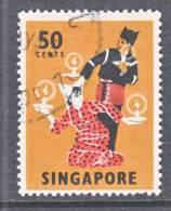 Singapore 93   (o)  FOLK  DANCER - Singapore (1959-...)