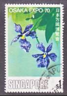 Singapore  115   (o)  FLOWERS - Singapore (1959-...)