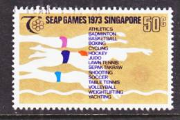 Singapore  187   (o)  SAEP  SPORTS  SWIMMING - Singapore (1959-...)
