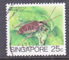 Singapore  457a  Redrawn   (o)  INSECT - Singapore (1959-...)