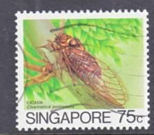 Singapore  460   (o)  INSECT - Singapore (1959-...)
