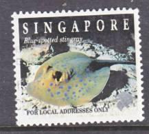 Singapore  816a  Perf  13 X 13 1/2   (o)  MARINE  LIFE  STINGRAY  1997 Issue - Singapore (1959-...)