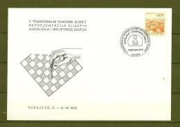 JUGOSLAVIJA, 02/07/1975 Tradicionalni Sahovski Susret - SARAJEVO  (GA7848) - Schaken