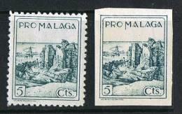 PRO MALAGA   Deteado Y Sin Dentar * - Verschlussmarken Bürgerkrieg