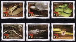 2010 MNH ** Timor Leste Timor East 6 V.  Reptiles And Amphibians  Sc 364-69 Mi 383-88 - East Timor