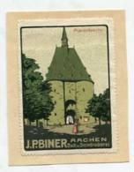 VIGNETTEN / SIEGEL / SEAL - 0795 Aachen - J.P. Biner - Buch U. Steindruckerei - Marschiertor - Cinderellas