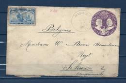 Brief Naar Schoorisse-Audenaarde (Belgium) 06/1898 (GA6834) - Timbres